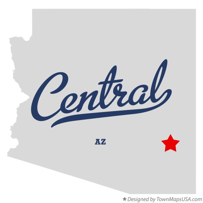 Map of Central Arizona AZ