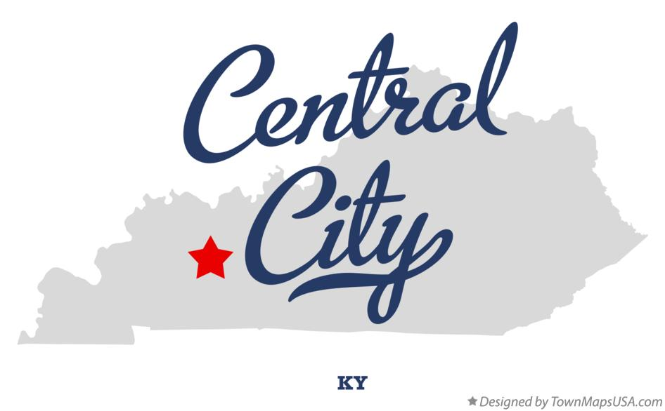 Central City (KY) United States  City pictures : Map of Central City, KY, Kentucky