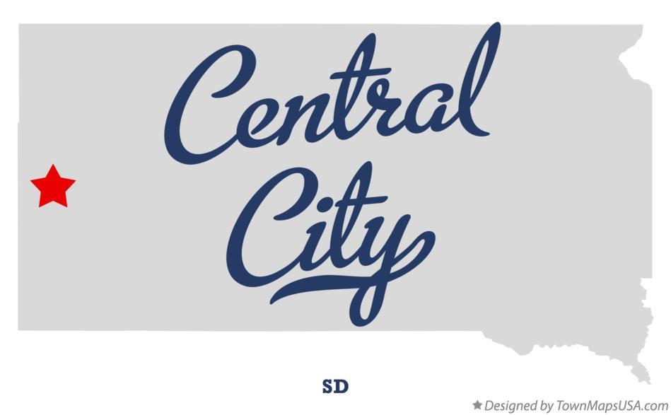 Map of Central City South Dakota SD