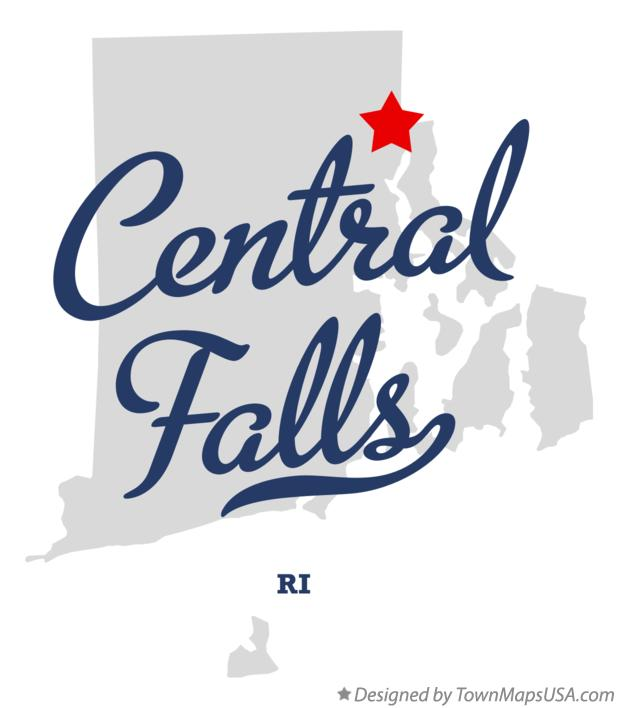 Map of Central Falls Rhode Island RI