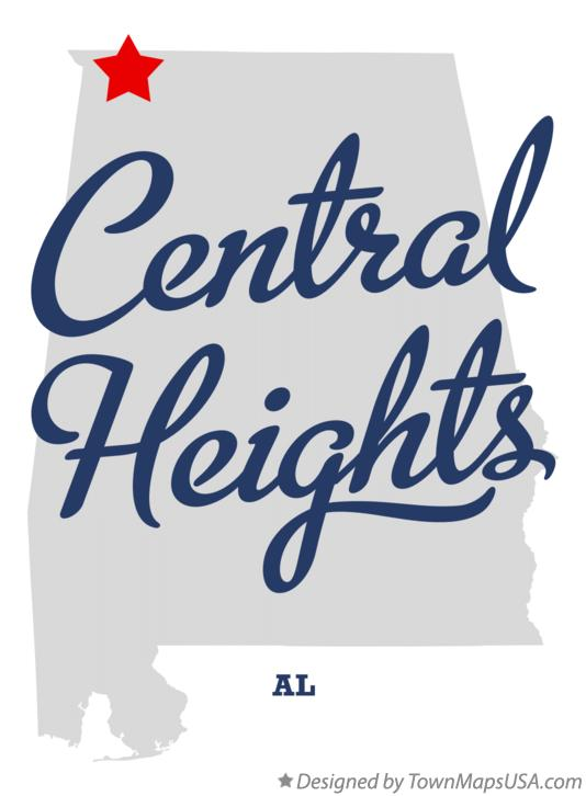 Map of Central Heights Alabama AL