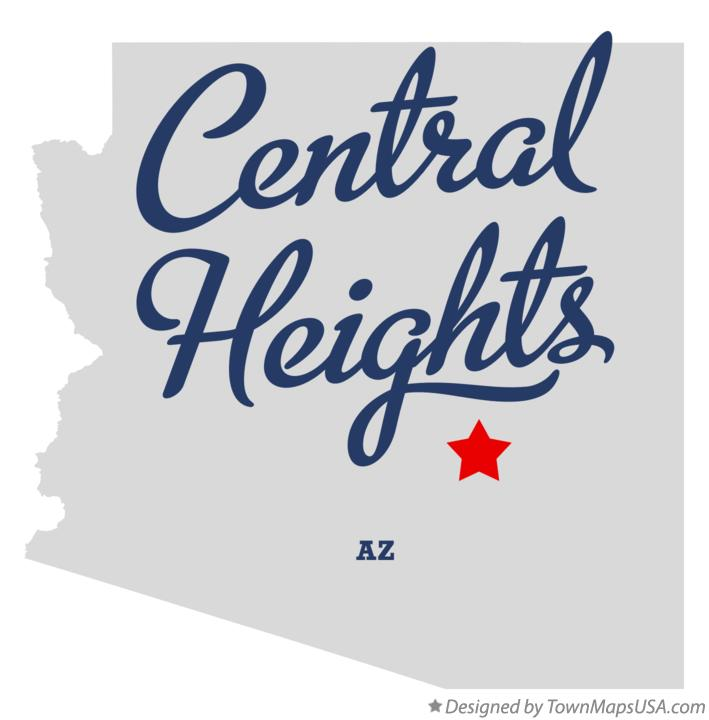 Map of Central Heights Arizona AZ