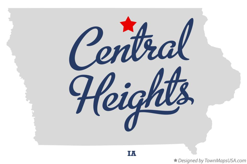 Map of Central Heights Iowa IA