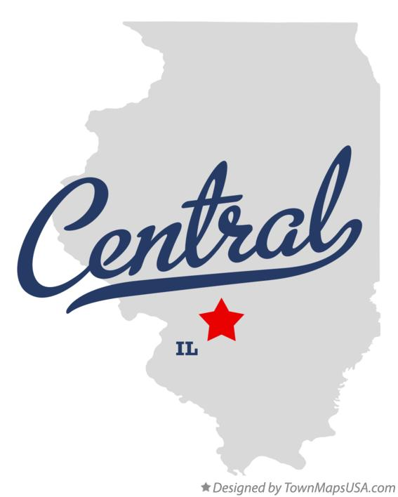 Map of Central Illinois IL