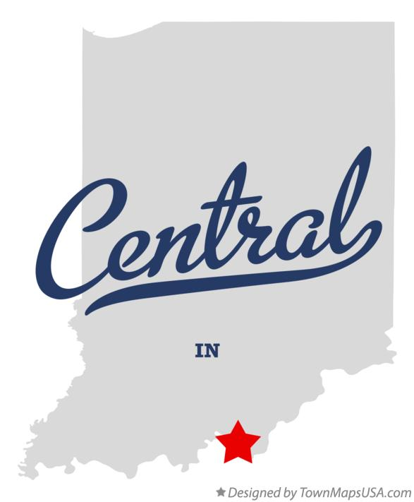 Map of Central Indiana IN