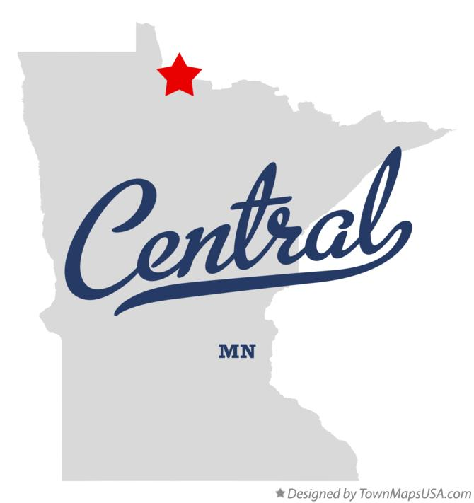Map of Central Minnesota MN