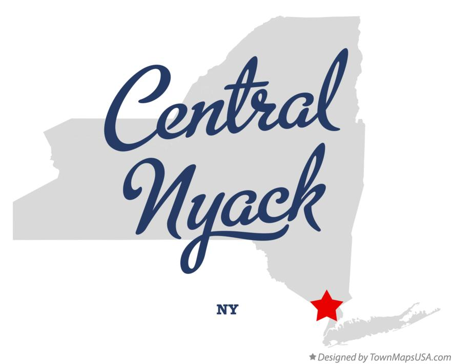 Map of Central Nyack New York NY