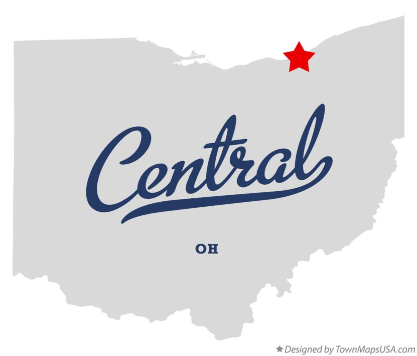 Map of Central Ohio OH
