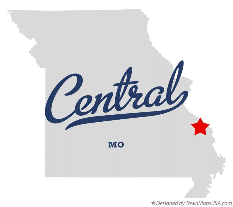 Map of Central Missouri MO
