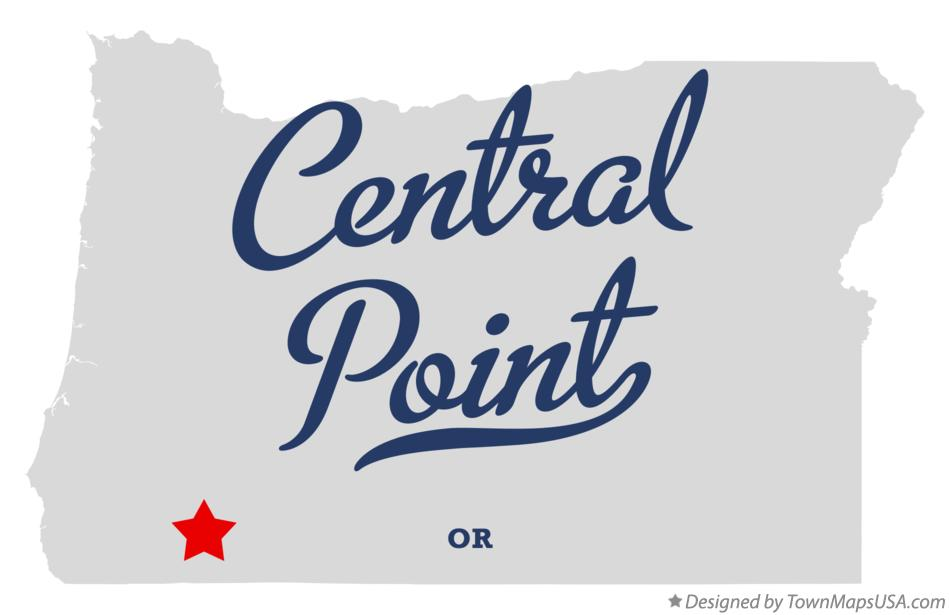 Map Of Central Point Or Oregon