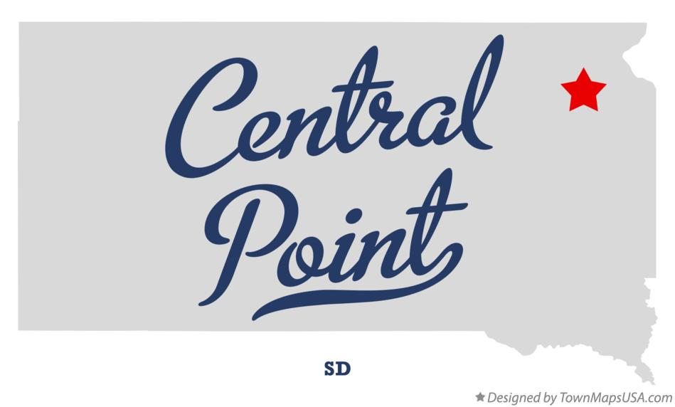 Map of Central Point South Dakota SD