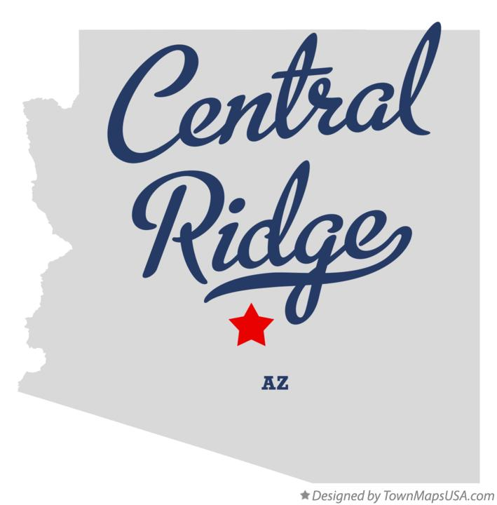 Map of Central Ridge Arizona AZ