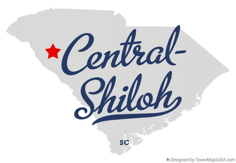 Map of Central-Shiloh South Carolina SC