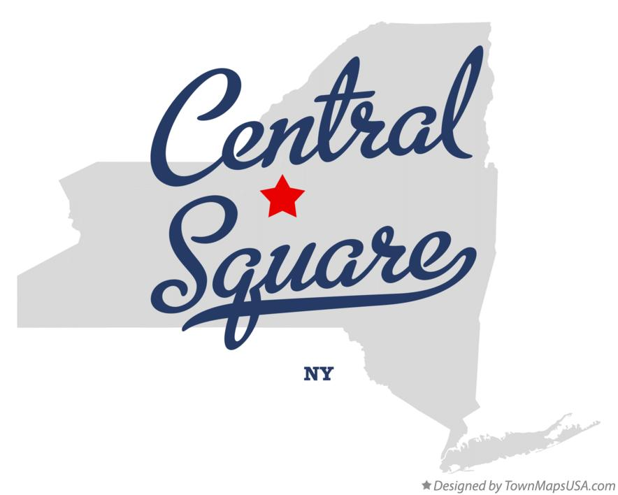 Map of Central Square New York NY