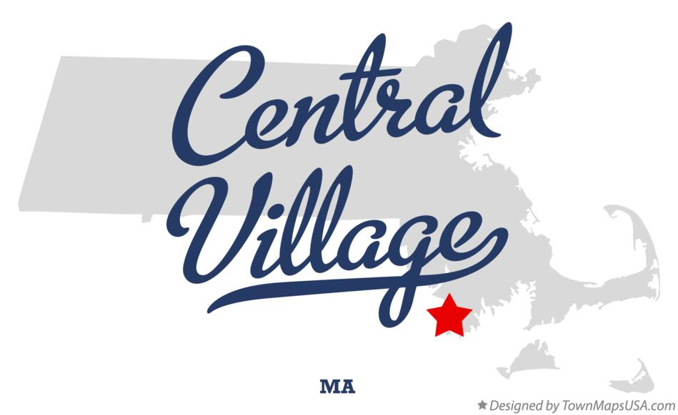 Map of Central Village Massachusetts MA