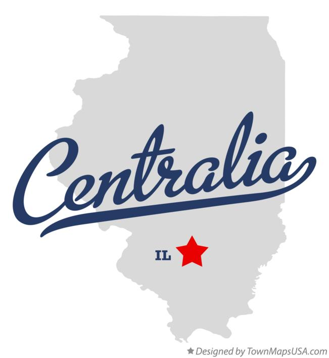 Map of Centralia Illinois IL