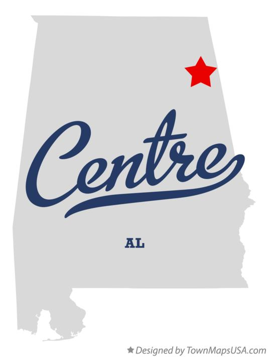 Map of Centre Alabama AL