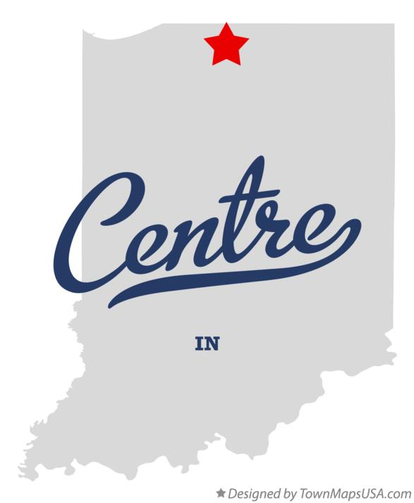 Map of Centre Indiana IN