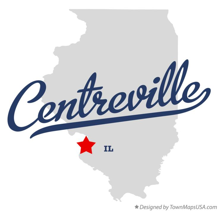 Map of Centreville Illinois IL