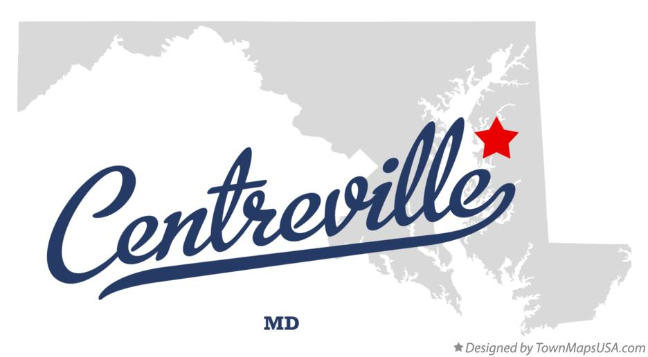 Map of Centreville Maryland MD
