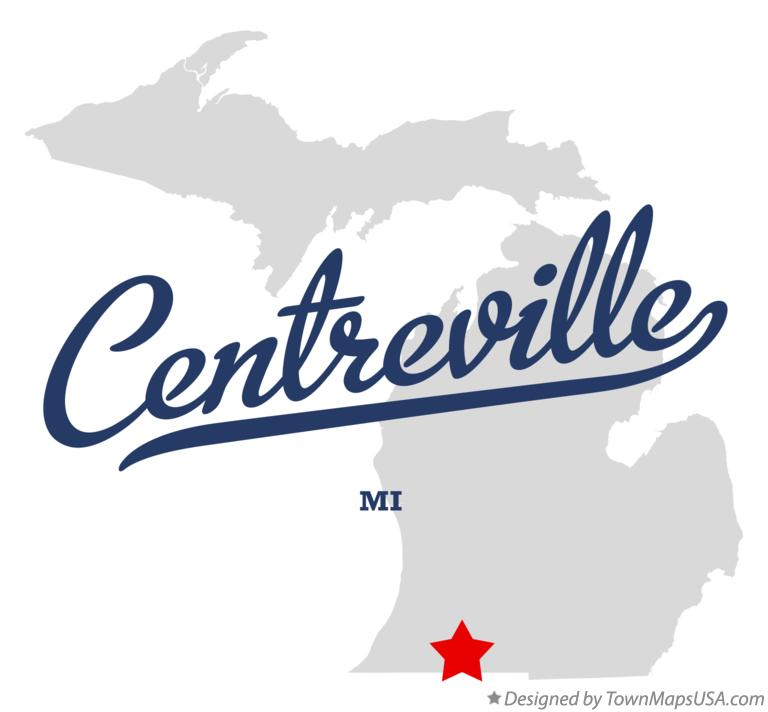 Map of Centreville Michigan MI