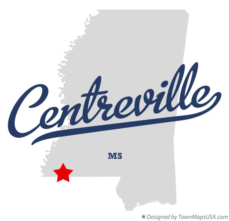 Map of Centreville Mississippi MS