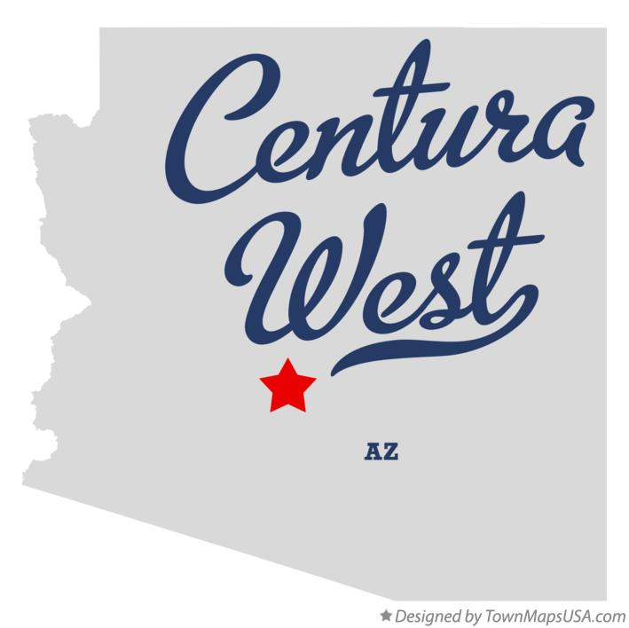 Map of Centura West Arizona AZ