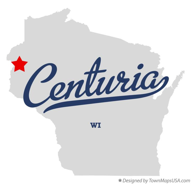 Map of Centuria Wisconsin WI