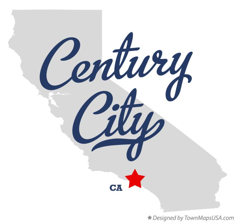 Map of Century City California CA