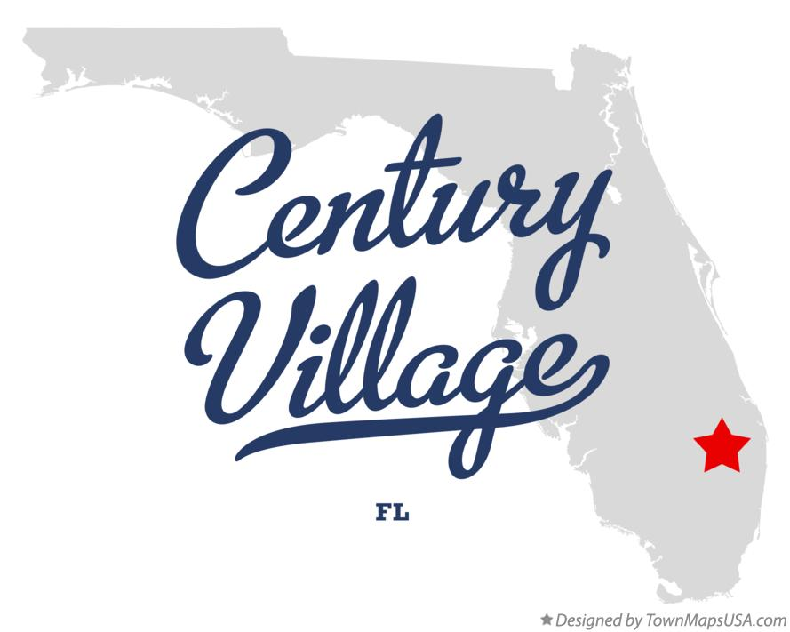 Map of Century Village Florida FL