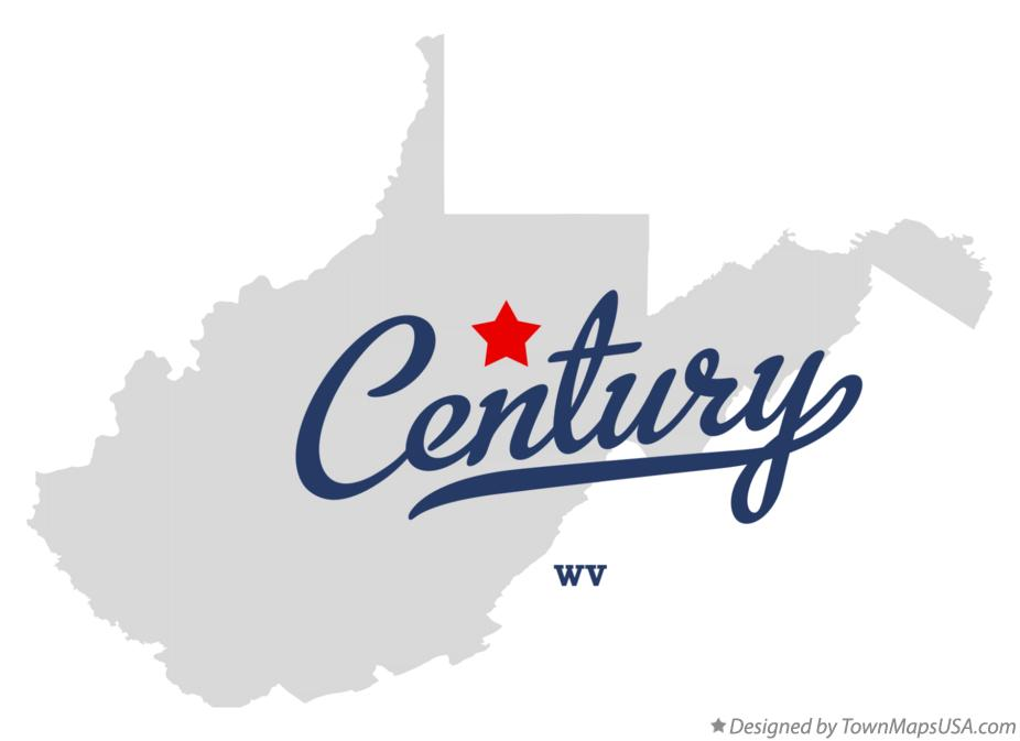 Map of Century West Virginia WV