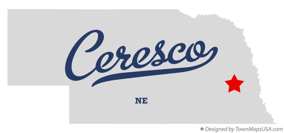Map of Ceresco Nebraska NE