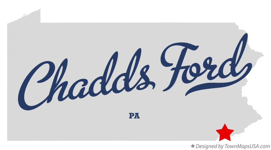 Map of Chadds Ford Pennsylvania PA