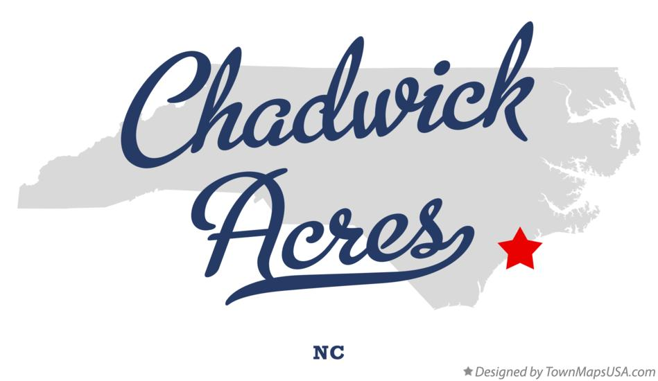 Map of Chadwick Acres North Carolina NC