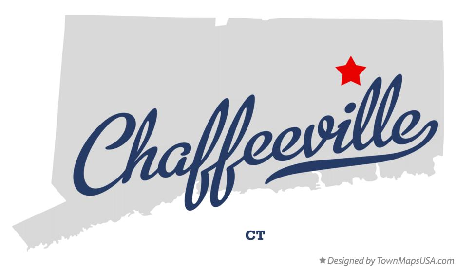 Map of Chaffeeville Connecticut CT