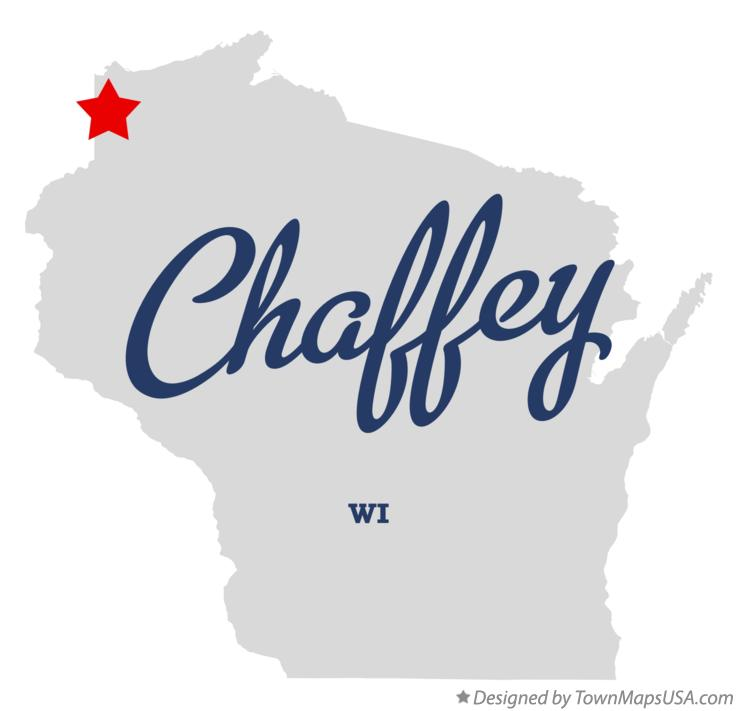 Map of Chaffey Wisconsin WI