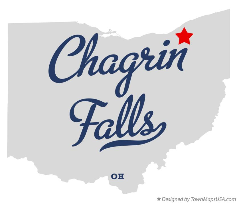 Map of Chagrin Falls Ohio OH