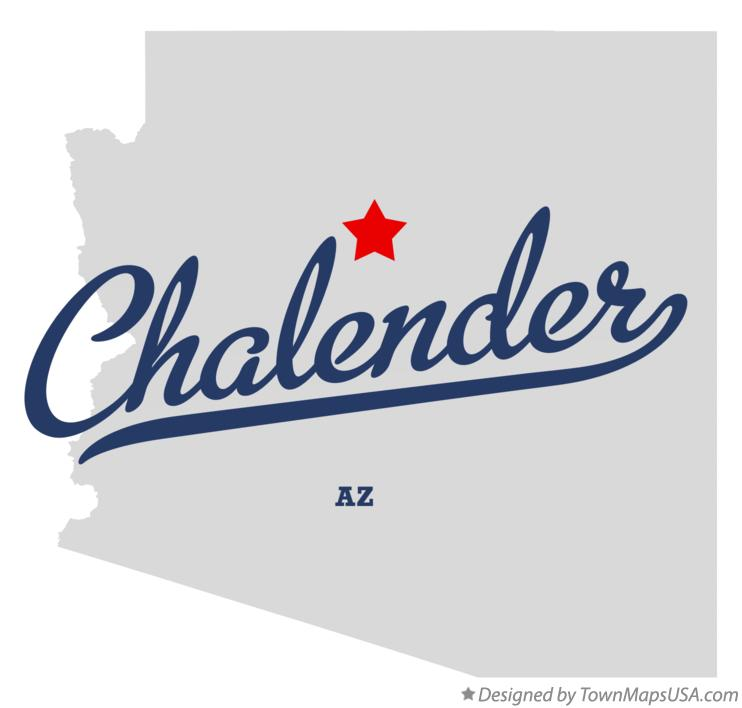 Map of Chalender Arizona AZ