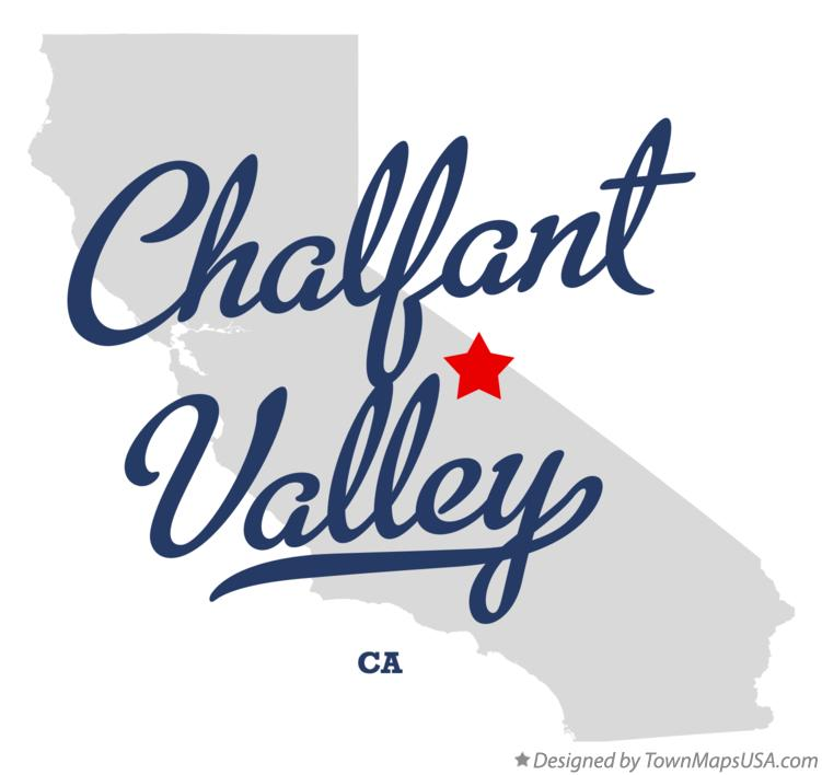Map of Chalfant Valley California CA