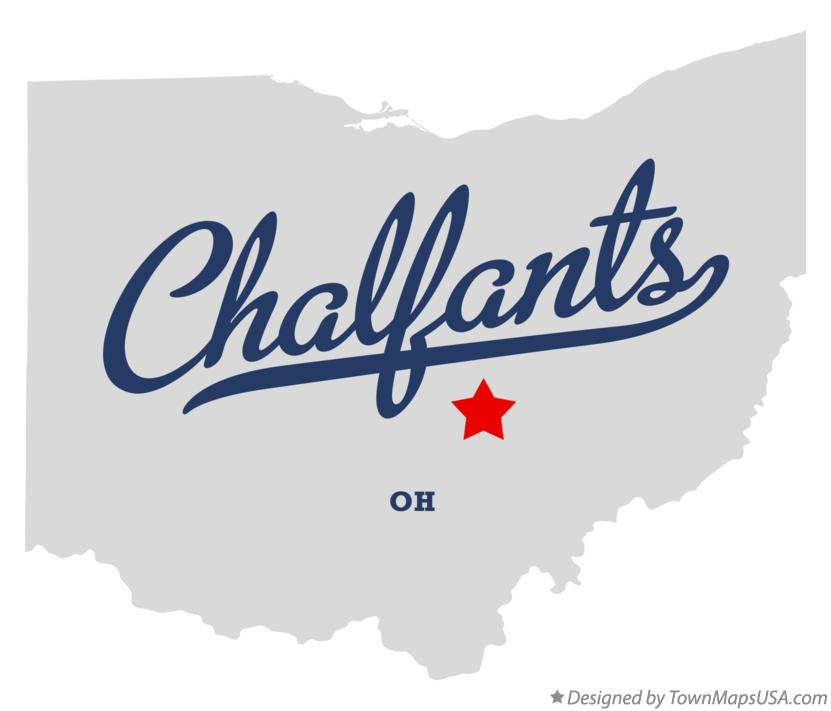 Map of Chalfants Ohio OH
