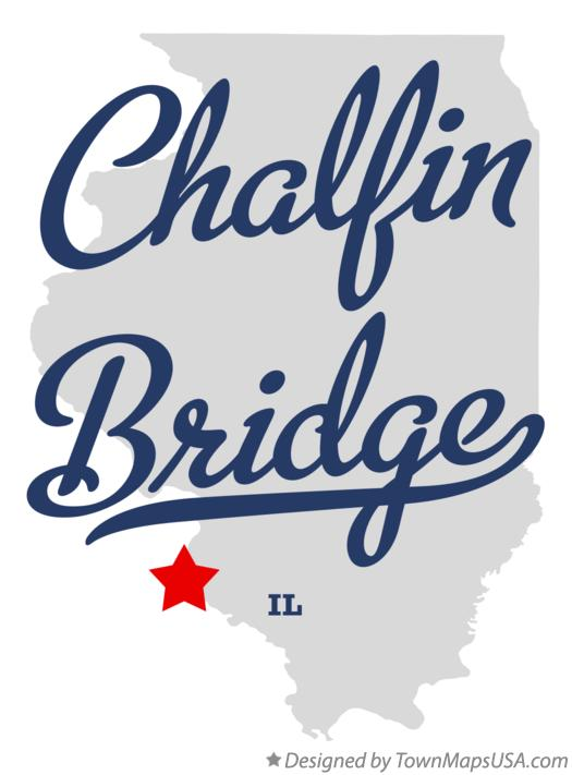 Map of Chalfin Bridge Illinois IL