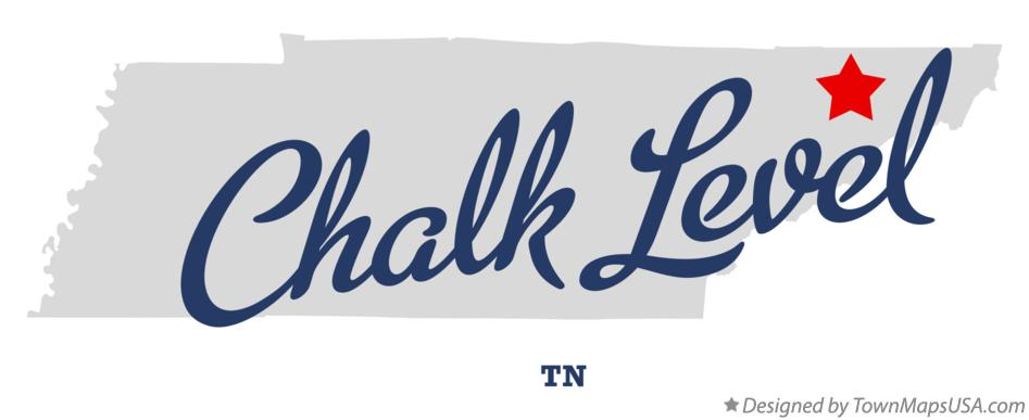 Map of Chalk Level Tennessee TN