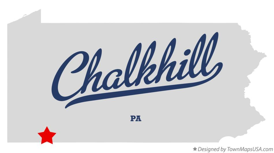 Map of Chalkhill Pennsylvania PA