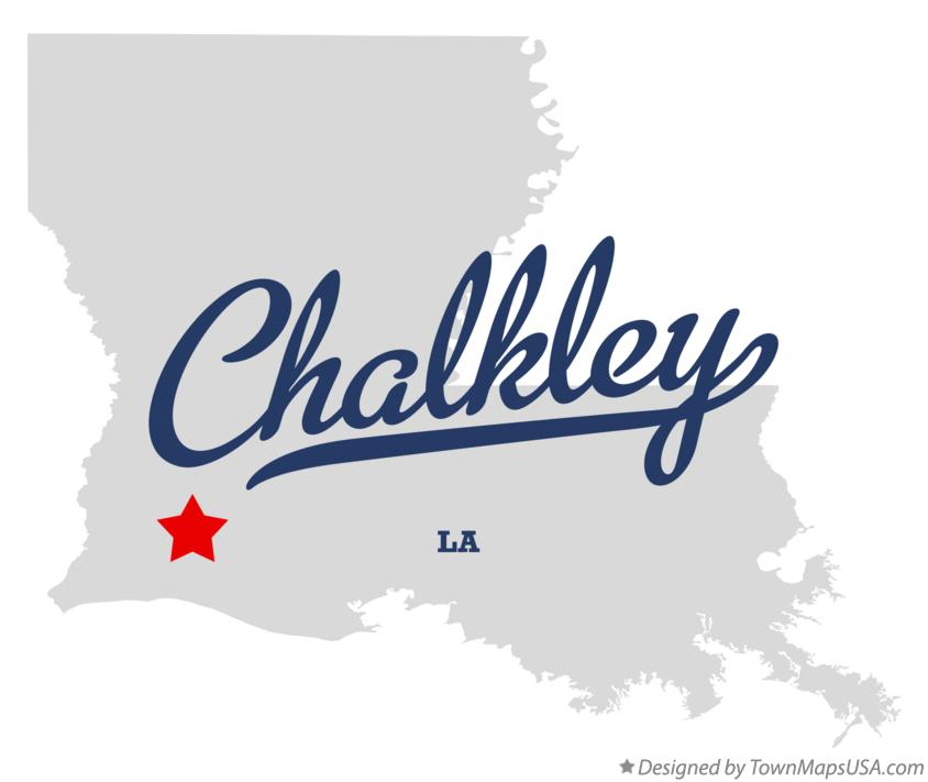 Map of Chalkley Louisiana LA