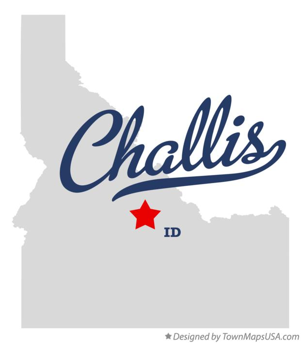 Map of Challis Idaho ID