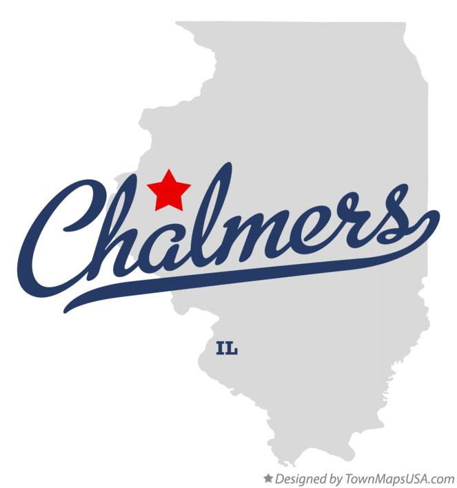 Map of Chalmers Illinois IL