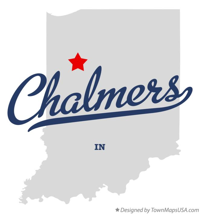 Map of Chalmers Indiana IN