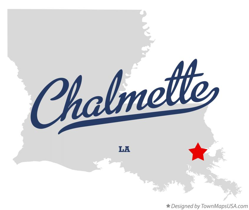 Map of Chalmette Louisiana LA