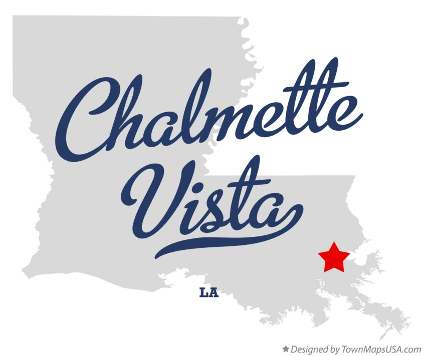 Map of Chalmette Vista Louisiana LA