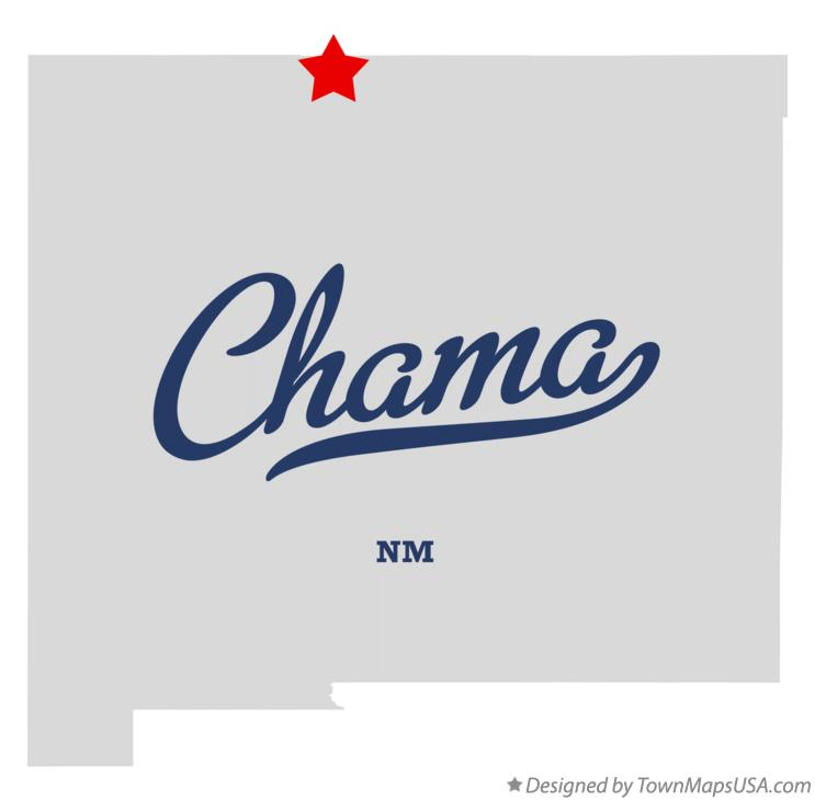 Map of Chama New Mexico NM